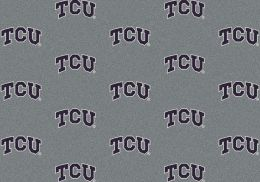 Texas Christian University Repeat Logo Nylon Area Rug