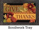 Indoor & Outdoor Thankful Turkey MatMates Doormat-18x30
