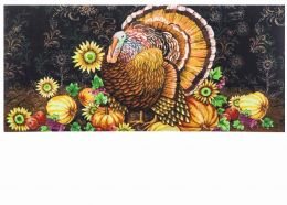 Sassafras Thankful Turkey Switch Doormat - 10 x 22