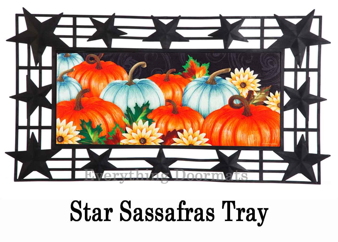 Sassafras Thanksgiving Pumpkins Switch Mat 10 X 22 Doormat