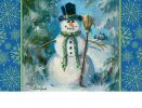 "Indoor & Outdoor Top Hat Snowman Insert Doormat - 18"" x 30"""