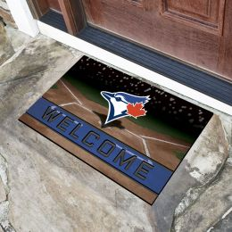 Toronto Blue Jays Flocked Rubber Doormat - 18 x 30
