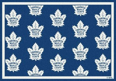 Toronto Maple Leafs NHL Repeating Logo Nylon Area Rug