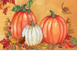 Indoor & Outdoor Traditional Pumpkin MatMate Doormat-18x30