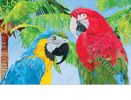 Indoor & Outdoor Tropical Beauties MatMate Doormat-18x30