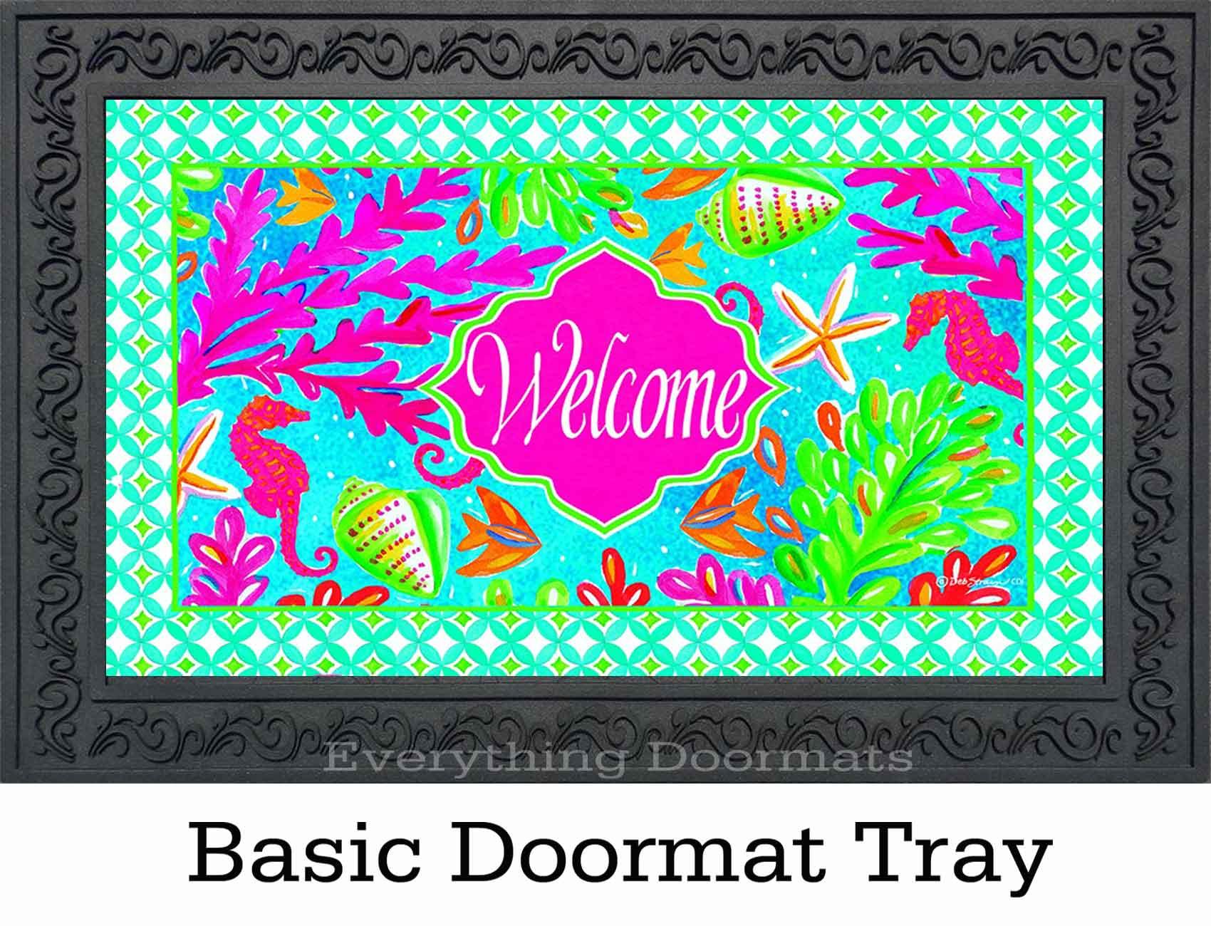 Indoor Amp Outdoor Tropical Welcome Insert Doormat 18 X 30