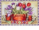 Hatch Embossed Tulip Basket Doormat - 19 x 30