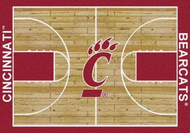 UC Bearcats Basketball Home Court Nylon Area Rug