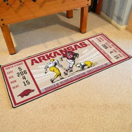 Arkansas Razorbacks Ticket Runner Mat - 29.5 x 72