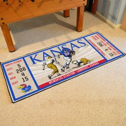 Kansas Jayhawks Ticket Runner Mat - 29.5 x 72