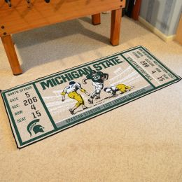 Michigan State Spartans Ticket Runner Mat - 29.5 x 72
