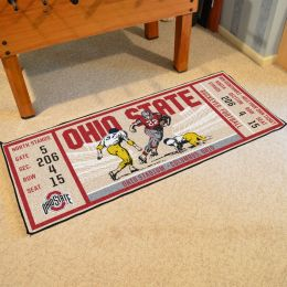 Ohio State Buckeyes Ticket Runner Mat - 29.5 x 72