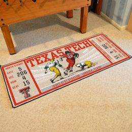 Texas Tech Red Raiders Ticket Runner Mat - 29.5 x 72