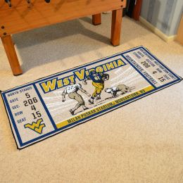 West Virginia Mountaineers Ticket Runner Mat - 29.5 x 72