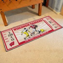 Wisconsin Badgers Ticket Runner Mat - 29.5 x 72
