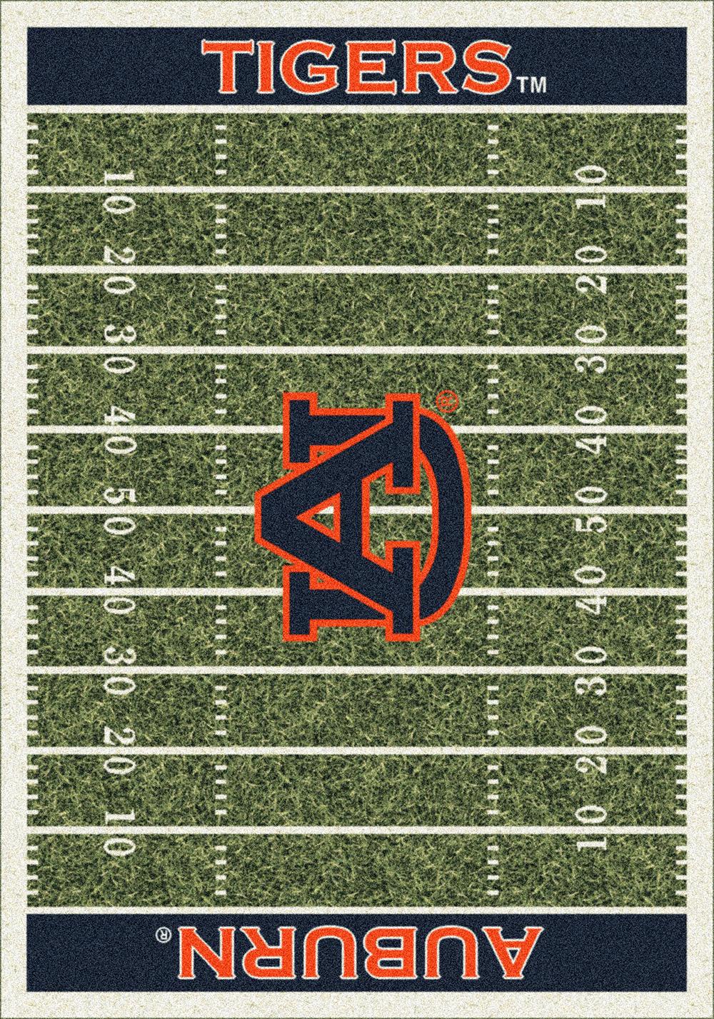 Auburn Tigers Home Field Area Rug Football Logo