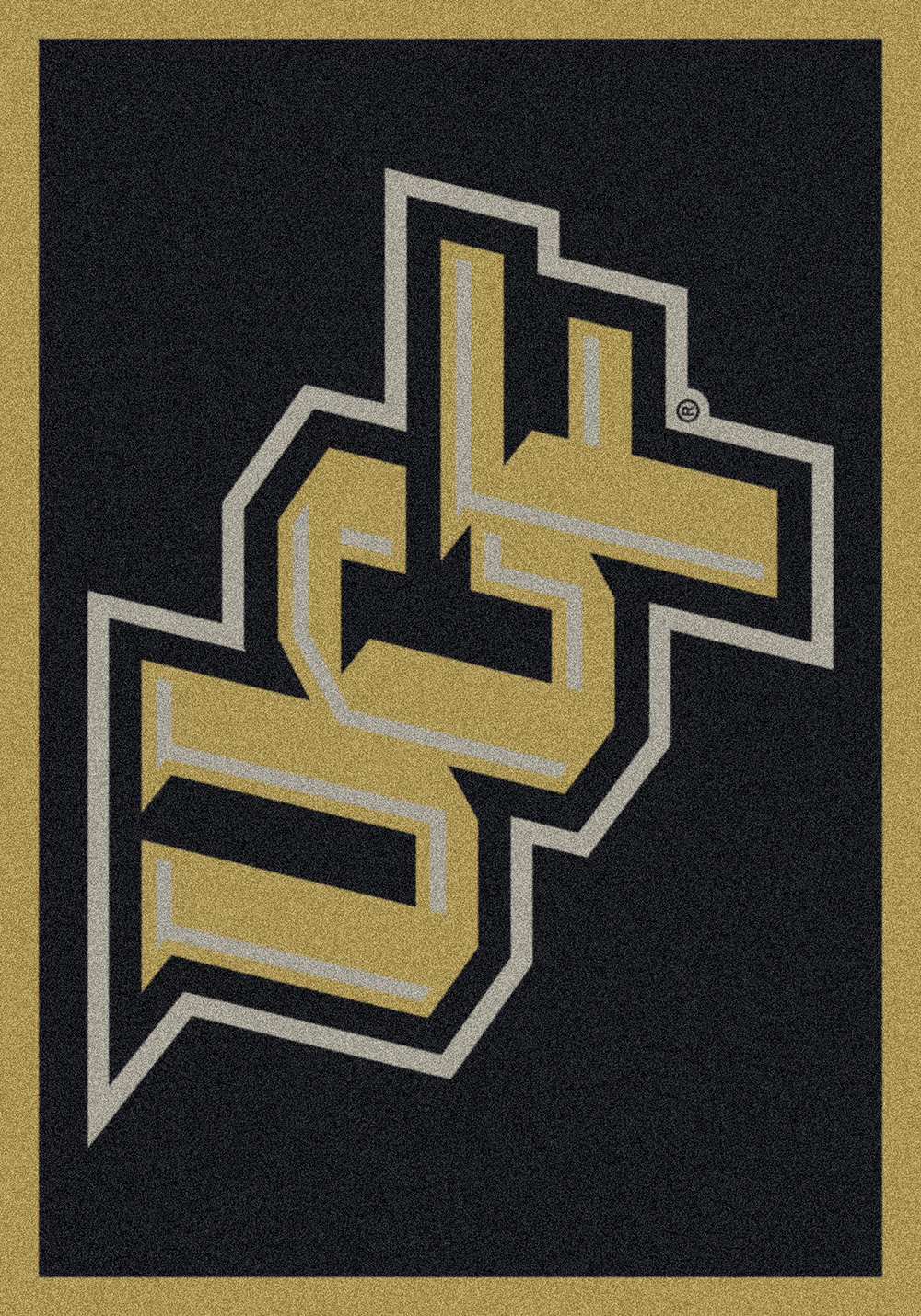 Central Florida Ucf Spirit Area Rug College Logo Mat