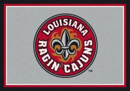 Louisiana Lafayette Spirit Area Rug - College Logo Mat