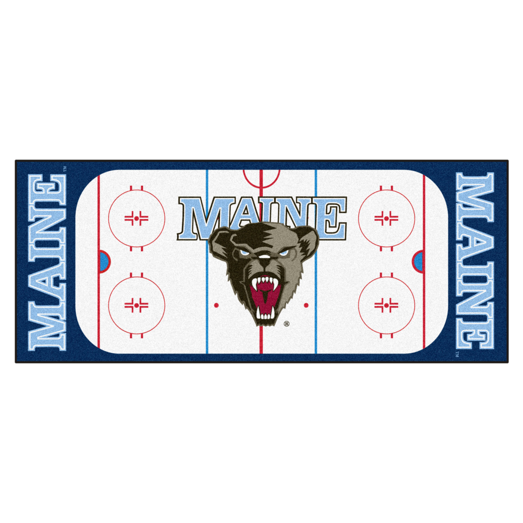 Maine Black Bears Hockey Rink Runner Mat X 29 5 X 72