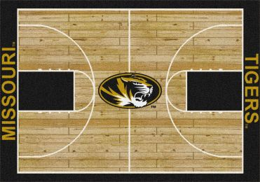 MU Tigers Basketball Home Court Nylon Area Rug