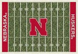 UNL Cornhuskers Home Field Nylon Area Rug