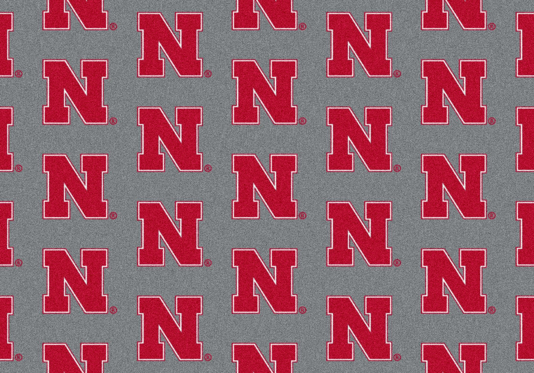 University of Nebraska Repeat Logo Nylon Area Rug