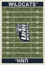 New Hampshire Wildcats Home Field Area Rug - Football Logo