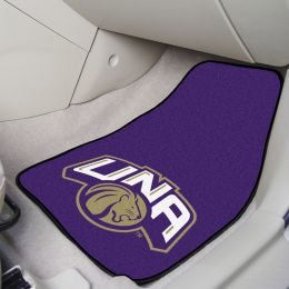 UNA Lions 2pc Carpet Floor Mat Set - Mascot