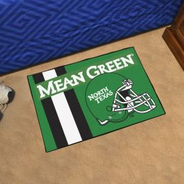 "University of North Texas Helmet Starter Doormat - 19"" x 30"""