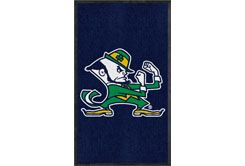 University of Notre Dame ND Mascot Area Rug - 3' x 5' Nylon