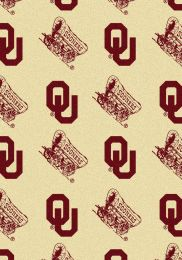 University of Oklahoma Repeat Logo Nylon Area Rug