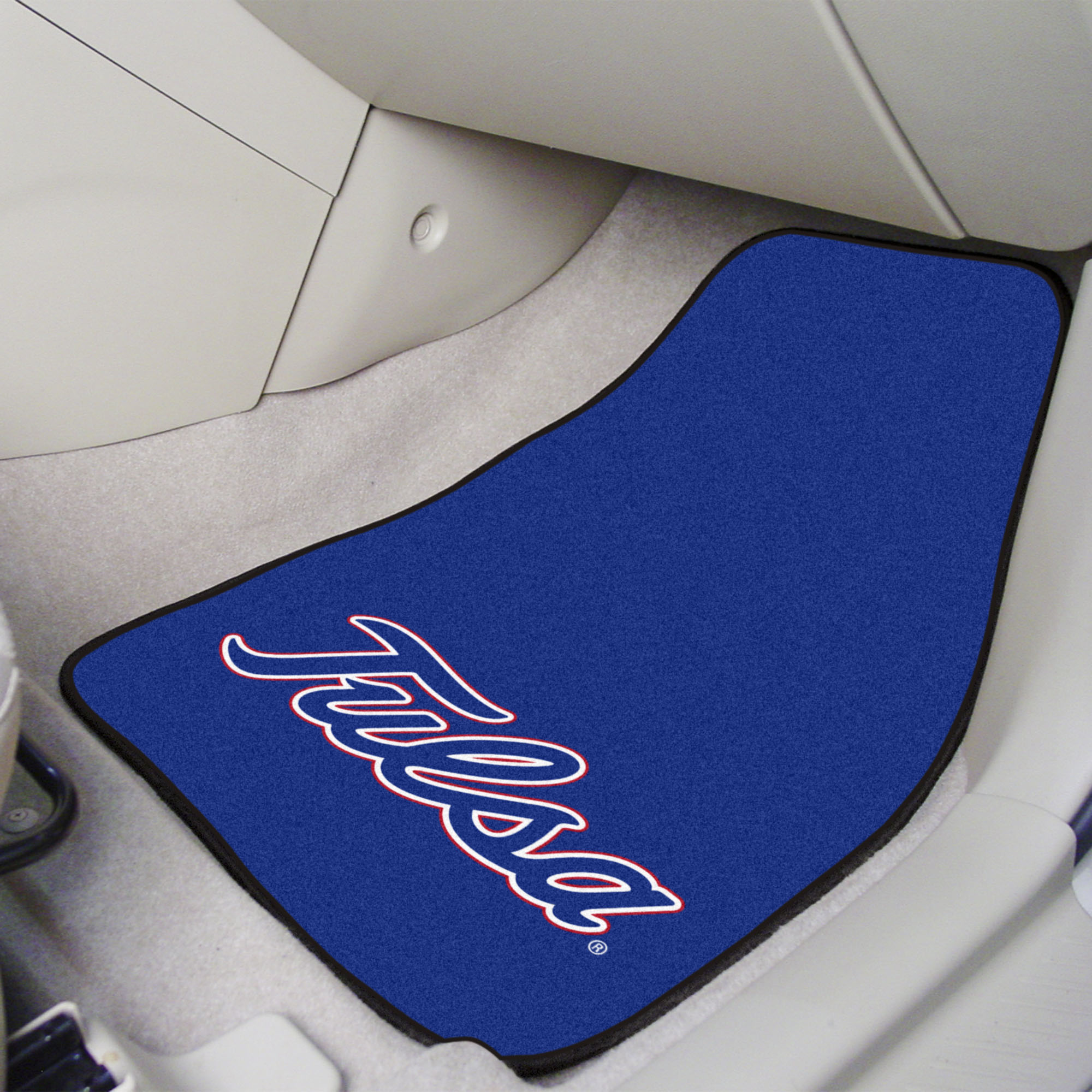 TU Golden Hurricanes 2pc Carpet Floor Mat Set - Nylon & Vinyl