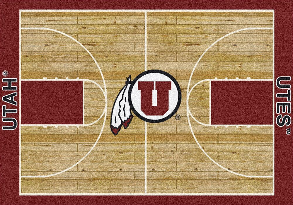Utah Utes Basketball Home Court Nylon Area Rug