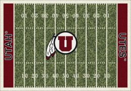 Utah Utes Home Field Area Rug - Football Logo
