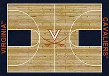 Uva Cavaliers Basketball Home Court Nylon Area Rug