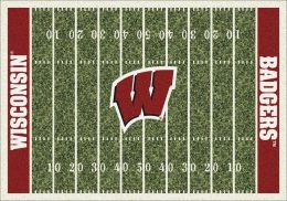 Wisconsin Badgers Home Field Area Rug - Football Logo