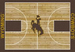 UW Cowboys Basketball Home Court Nylon Area Rug