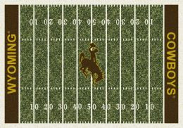 UW Cowboys Home Field Nylon Area Rug