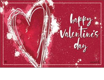 Valentine Heart Indoor & Outdoor MatMate Doormat - 18 x 30