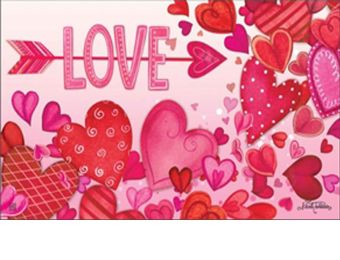 Valentine Showers Indoor & Outdoor MatMate Doormat - 18 x 30