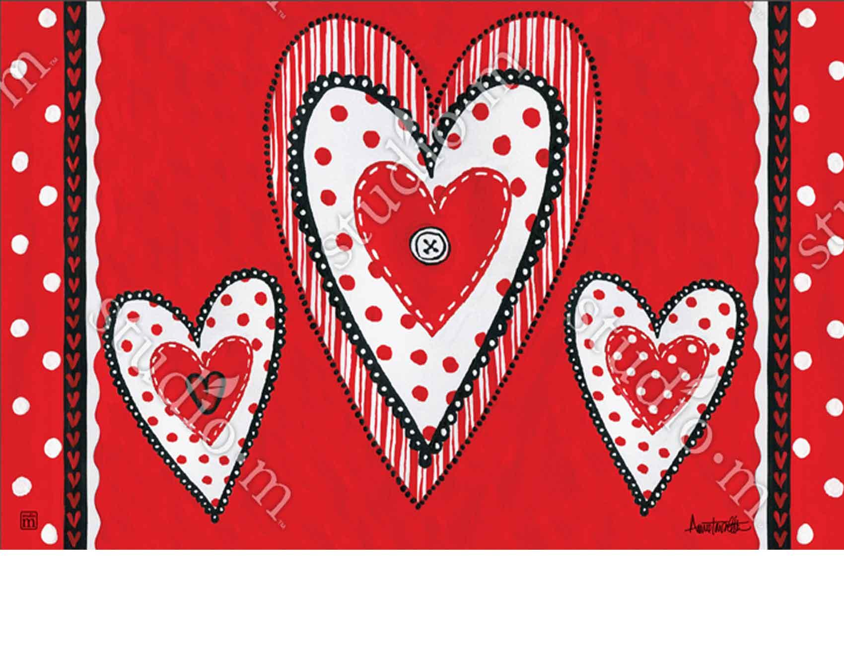 Indoor Amp Outdoor Button Valentine Matmate Doormat 18x30