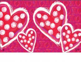 Indoor & Outdoor Valentine Wishes MatMate Doormat - 18 x 30