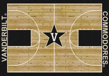 Vanderbilt Commodores Basketball Home Court Nylon Area Rug