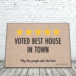 Voted Best House In Town Doormat - 19 x 30 Funny
