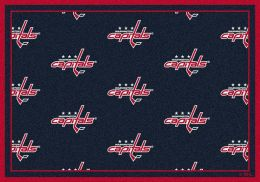 Washington Capitals NHL Repeating Logo Nylon Area Rug