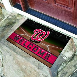 Washington Nationals Flocked Rubber Doormat - 18 x 30