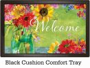 Indoor & Outdoor Watercolor Wildflowers Insert Doormat-18x30