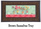 Sassafras Weild Rose Mason Jars Switch Mat-10x22 Insert Doormat