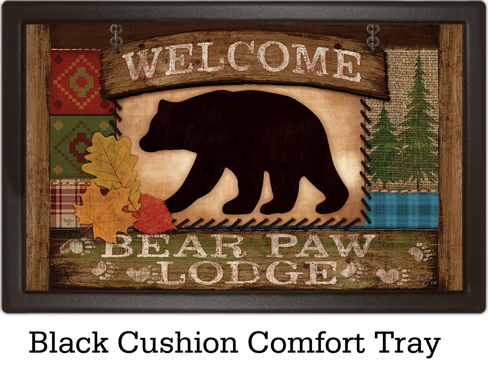 Indoor amp Outdoor Welcome Bear Insert Doormat 18 x 30