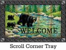 Indoor & Outdoor Welcome Black Bear Insert Doormat - 18x30